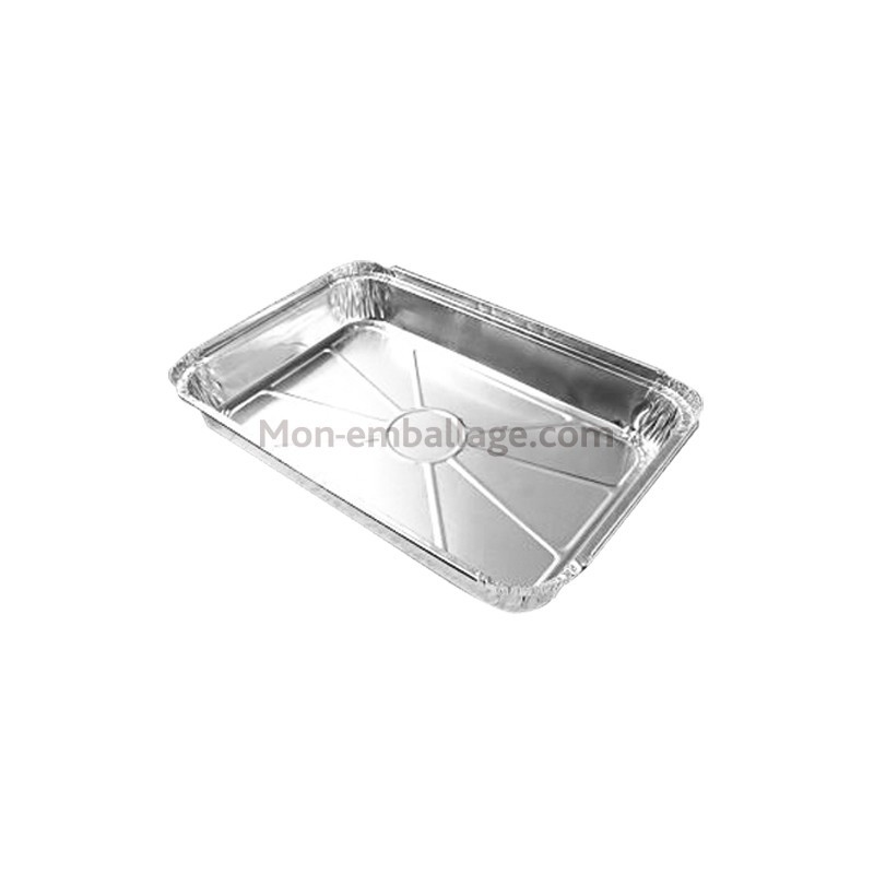 Plat aluminium jetable 2 kg fermable avec couvercle - Plat aluminium jetable ...