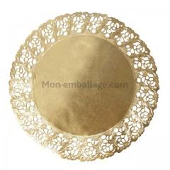Dentelle or diamètre 24 cm - par 100