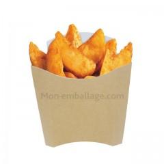 Etui à frites kraft brun 350 ml en carton - par 1000