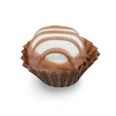 Caissette pâtissière plissée brune 3,5 x 2,3 cm - par 1000
