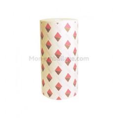 Mousseline 30 gr/m2 décor smack bobinot de 33 cm - rouleau de 10 kg