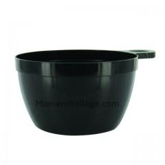 Tasse à café jetable noire 16 cl - paquet de 25