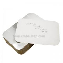 Opercule plat aluminium 2000 gr fermable - par 25