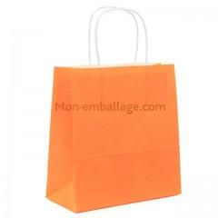 Sac cabas orange à poignées torsadées 23 x 12 x 30 cm - par 50
