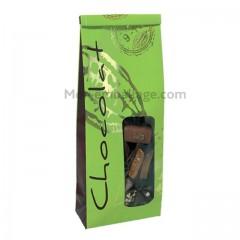 Sachet SOS papier 7 x 4 x 20 cm citron vert / chocolat - par 50