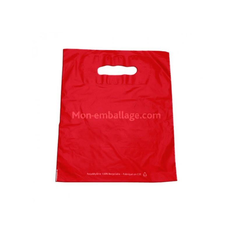 achat sac plastique rouge 25 x 32 cm pas cher. Black Bedroom Furniture Sets. Home Design Ideas