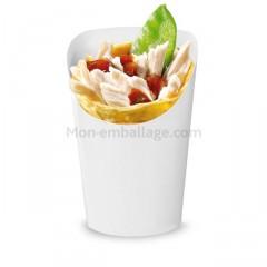 Pot à wrap en carton blanc 7 x 6 x 12 cm - par 50