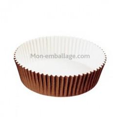 Caissette de cuisson ronde Optima 6,9 x 2,4 cm en carton brun - par 200