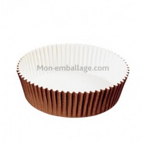 Moule de cuisson Optima 6,9 x 2,4 cm en carton brun - par 200