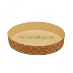 Moule à tarte sans rebord 18,5 x 3,5 cm en papier - par 600