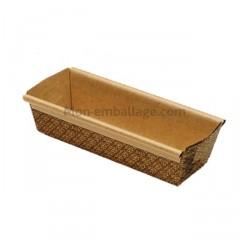Moule de cuisson pour cake Novacart 22,7 x 7 x 6,5 cm en papier brun - par 480