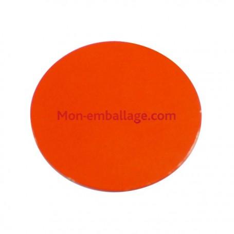 Rond carton ingraissable 14 cm orange / noir - par 50