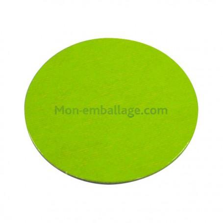 Rond carton ingraissable 14 cm vert / noir - par 50