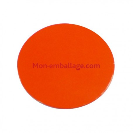 Rond carton ingraissable 18 cm orange / noir - par 50