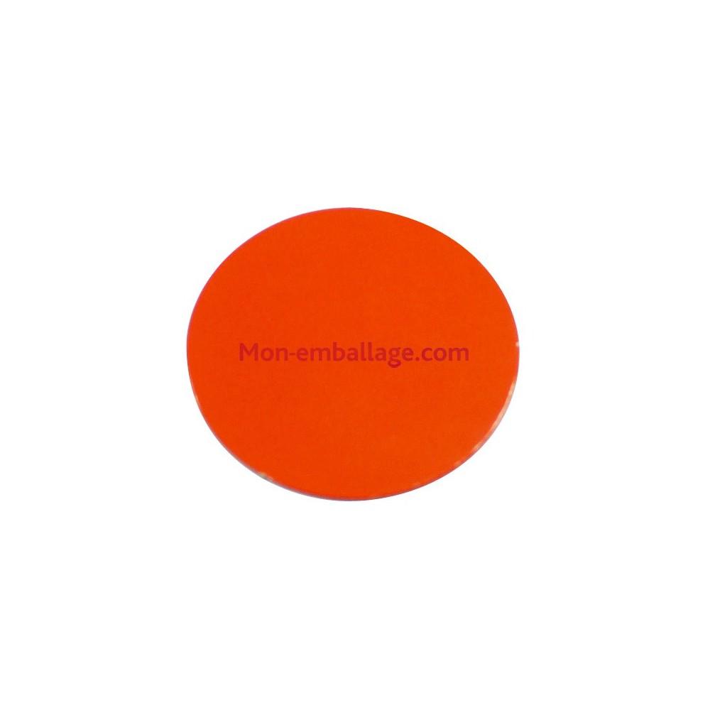 rond carton ingraissable 20 cm orange    noir