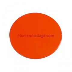 Rond carton ingraissable 24 cm orange / noir - par 50