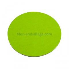 Rond carton ingraissable 18 cm vert / noir - par 50