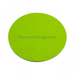 Rond carton ingraissable 20 cm vert / noir - par 50