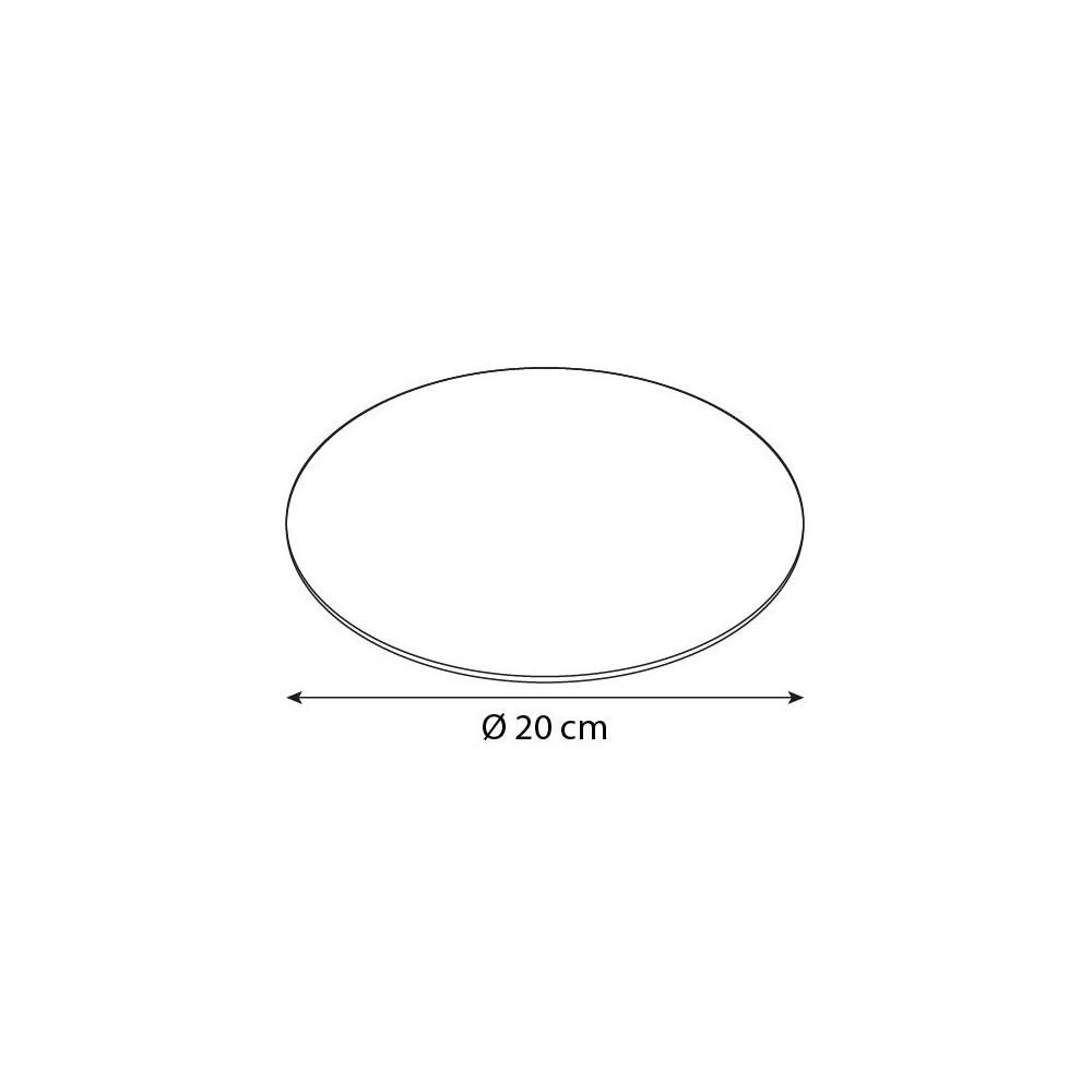 rond carton ingraissable 20 cm vert    noir