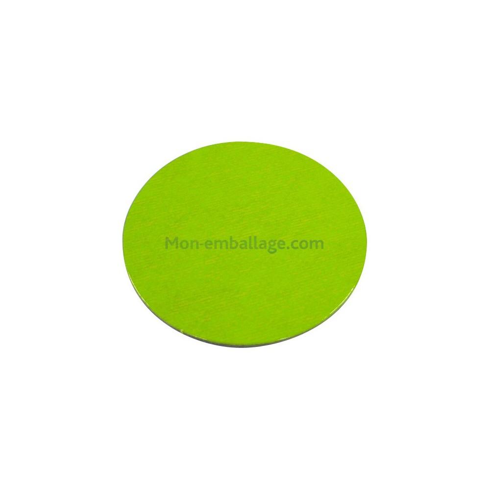 rond carton ingraissable 28 cm vert    noir