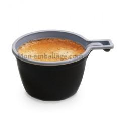 Tasse à café brune intérieur blanc 160 ml - par 50