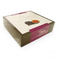 Boîte pâtissière violette 28 x 28 x 8 cm décor TEMPO - par 50