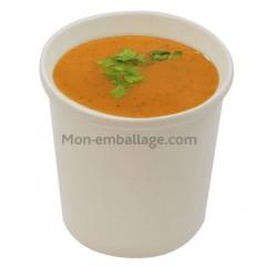 Pot à soupe carton blanc 500 ml - par 25