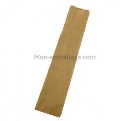 Sac à pain kraft brun 14 x 4 x 50 cm (spécial flûte) - par 1000