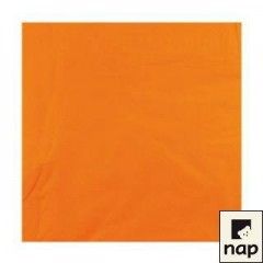 Serviette cocktail orange 20 x 20 cm 2 feuilles - par 100