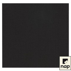 Serviette cocktail noire 20 x 20 cm 2 feuilles - par 100