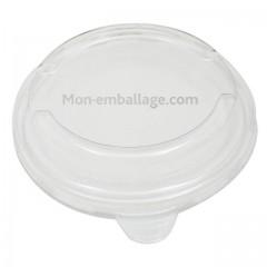 Couvercle cristal pour bol salade carton vert 750 ml - par 500