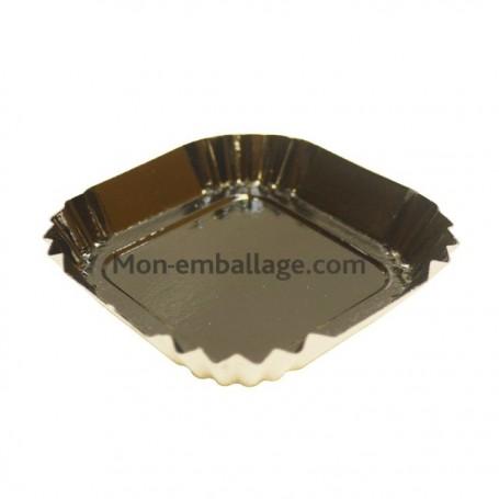 Petite assiette carton noire carrée de 55 mm - par 100