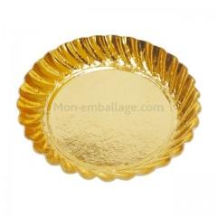 Mini assiette carton ronde or diamètre 55 mm - par 100
