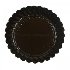 Mini assiette carton ronde noire diamètre 55 mm - par 100