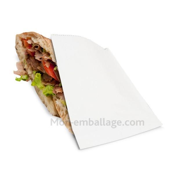 Sachet ingraissable blanc 17 x 21 cm pour kebab - par 1000