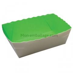 Caissette primeur carton vert/blanc 12,5 x 9 x 5,5 cm - par 500