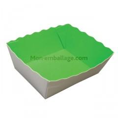 Caissette primeur carton vert/blanc capacité 500 g - par 500
