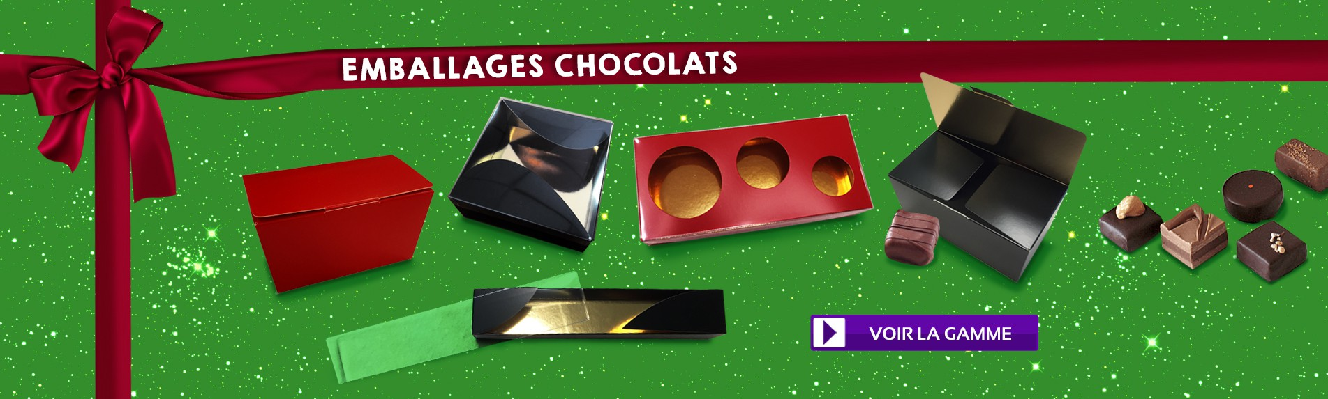 Emballages chocolats